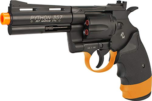 "Evike Colt Python Full Metal .357 Magnum High Power Airsoft CO2 Revolver by Cybergun (Length: 4"")"