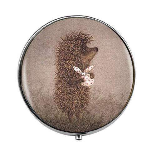 Hedgehog in The Fog - Art Photo Pill Box - Charm Pill Box - Glass Candy Box
