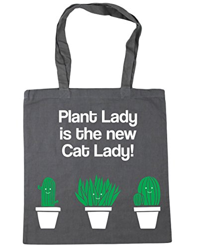 Lady Cat Graphite New Plant 42cm Grey Lady Beach 10 is Tote Shopping x38cm Bag Gym litres HippoWarehouse The A4wqq