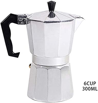 Homie Cafetera Italiana de café exprés de 1 Taza / 3 Tazas / 6 Tazas / 9 Tazas / 12 Tazas Cafetera Estufa Octagonal Cafetera de Aluminio para el hogar, 300 ml: Amazon.es: Hogar