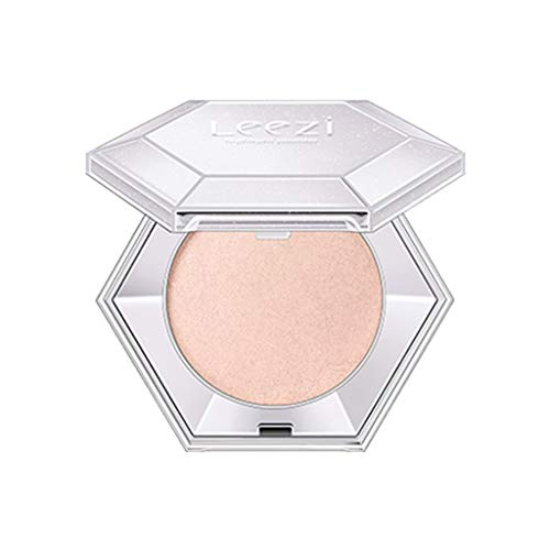 ErYao Diamond Sparkle Highlighter Makeup Illuminating Bronzer Effect Smooth Shimmer Face Glow Pastel Highlighter Powder (Peachy Orange)