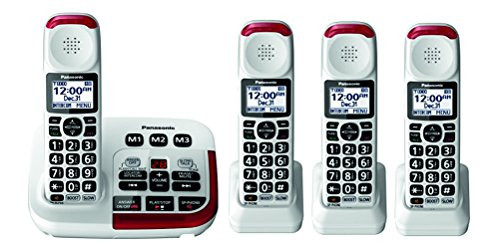 Panasonic KX-TGM420W Amplified Cordless Phone (4 Handsets)