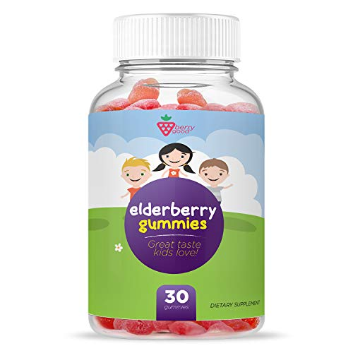 Sambucus Kids Elderberry Gummies Supplement - Healthy Immune Support - Formulated with Vitamin C & Zinc - Gluten-Free, Vegetarian - 30 Gummies