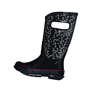 Bogs Kids Rubber Waterproof Rain Boot Boys Girls, Kaleidoscope Print/Black/Multi, 10 M US Toddler