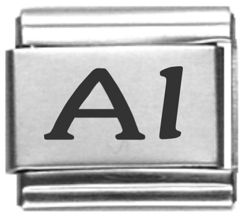 Al Laser Name Italian Charm Link