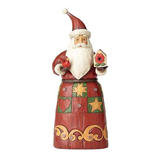 Jim Shore Folklore JS FOL Fig Folklr Santa Birdho Figurine