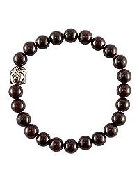 Aatm Reiki Garnet Beaded Gemstone Bracelet (Stone Of Health)