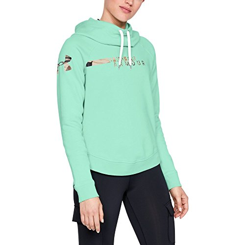 Under Armour Women's Favorite Fleece Camo Logo, Crystal (960)/Ua Barren Camo, XX-Large ()