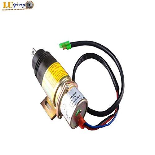 MV2-17A 24V Fuel Shutoff Solenoid for Isuzu 4JG1 4JG2 6BG1 6BB1 4J62 4J61 by LUQING (Image #1)