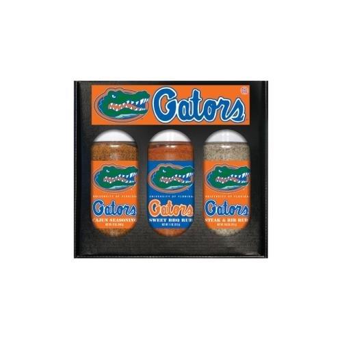 Florida Gators NCAA Boxed Set of 3 (Cajun Seas,Stk/Rib Rub, BBQ Rub) from Hot Sauce Harry's