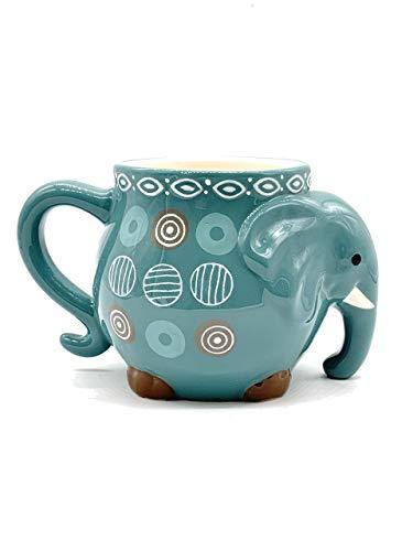 Elephant Colorful Coffee Tea Cup Mug 17.5oz (Turquoise (one piece))