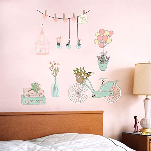 EdC DIY Beautiful Mood Wall Sticker, DIY Removable Cute Wallpaper Lovely Wall Detachable Decorative Stickers for TV Wall Decoration Living Room Girls Nursery Kids Bedroom Home Vinyl Art Mural Decor
