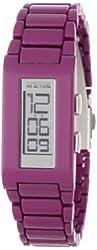 Kenneth Cole REACTION Women's RK4116 Custom Rectangle Vertical Digital Black Ion-Plating Watch