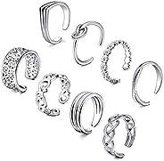 D.Bella Adjustable Toe Rings for Women Summer Beach Rose Gold Silver Hypoallergenic Open Toe Ring Set Finger F