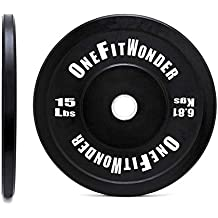 Contrast Lettering Olympic Bumper Plate Pairs / 10lb - 55lb Virgin Rubber with Stainless Steel Insert for Strength Training and Weightlifting
