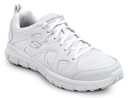 Skechers David Men's MaxTrax Slip Resistant Athletic Sneaker (10.0 M, White) (White Skechers Shoes For Men)