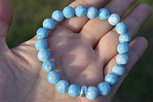 Larimar quartz 8mm bracelet,AAA grade gemstone,genuine natural gemstone, bead Bracelet