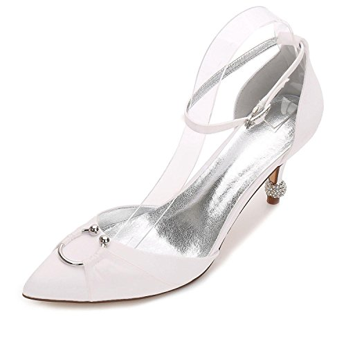 L@YC Boda Para Mujer 17767-25 Confort Summer Fall Satin Vestido de Novia Party & Evening Stiletto High Heel Blue Ivory