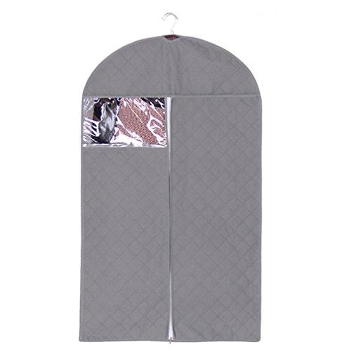 WRMR Clothes Cover Bag, Clothes Dust Cover Dustproof Garment Cover Clothes Storage Bag Garment Bag Organize Storage Garment Suit Coat Dress Garment Cover Protector (XL, Gray)