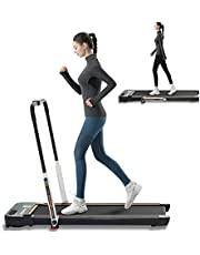 LSRZSPORT 2 in 1 Folding Treadmill 2.5HP Under Desk Electric Treadmill with Speaker, Remote Control and LED Display Walking Jogging Running Machine for Home Office, Installation-Free, Upgraded Version