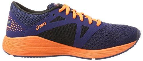 Asics Roadhawk FF GS, Zapatillas de Running Unisex Niños Multicolor (Indigo Blue/hot Orange/black)