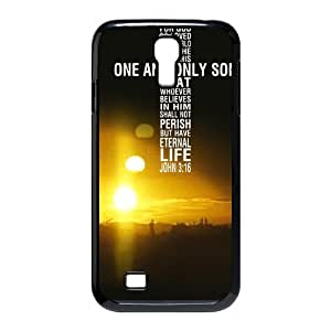 diycover Samsung Galaxy S4 I9500 Case - Christian Theme - John 3:16 - Best Durable Cover Case Kimberly Kurzendoerfer