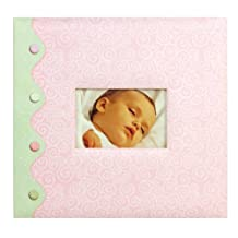 Tapestry by CR Gibson Little Pond Baby Girl Complete Scrapbook Kit, 12 by 12-Inch