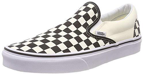 Vans Unisex Classic Checkerboard Black/White Checker/White Slip-On - 8.5