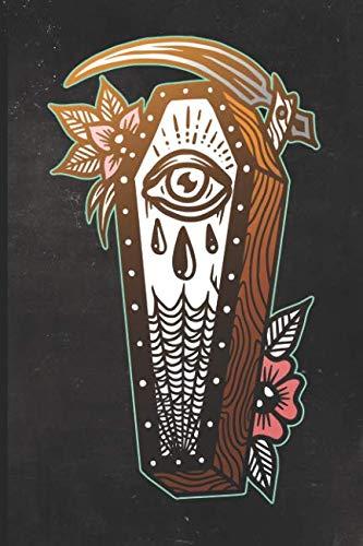 Journal: Grim Reaper Casket Tattoo Design Dot Grid Tattoo Flash Sketching Journal]()