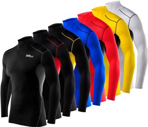 Langärmliges Total Compression Advanced HyperFusion Basisschicht-Unterhemd Funktionsunterwäsche Armour Kompressionsshirt für Männer und Jungen - W/G BS