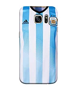 ColorKing Football Argentina 11 Multi Color shell case cover for Samsung S7 Edge
