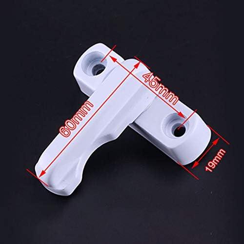 TiooDre Sash Jammer 4PCs Samm Jammer bianco forte lega di zinco in lega di sicurezza extra serrature blocco telaio per varie porte UPVC//PVC Windows