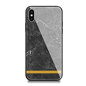 inShang iPhone X case New Design Tempered Glass Case Luxury Style Cover 9H+ super hardness Strong Impact Resistance slim case for iPhone X 2017 Supports wireless charging