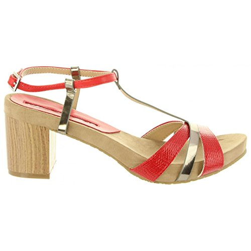 Mujer Rojo Mare Sandalias De Maria 66985 C40432 wcFF5qHOY