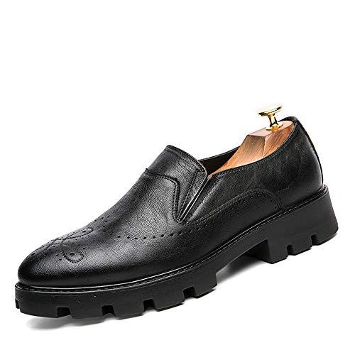 intagliate Casual da Scarpe Oxford Nero Base Fashion Classic Men's Business Scarpe Spesse Cricket xaXwqHngE