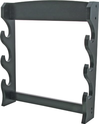 (BladesUSA WS-3WH Sword Stand 3-Tiers Wall Mount Sword Stand)