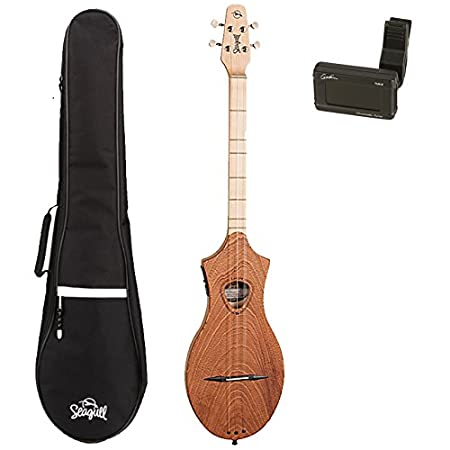 Seagull M4 Merlin Mahogany EQ Acoustic-Electric Dulcimer with Seagull Gig Bag and Godin Tuner (042517)