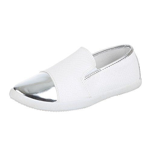 Women's Trendy Slipper Slippers x 10 mm x Brogue White - WHITE LgtWFIJ