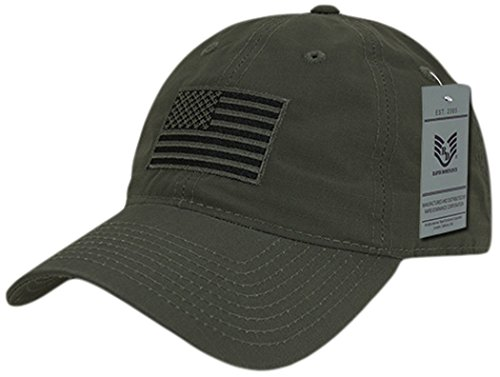 (Rapiddominance S73-USA-OD Relaxed Ripstop Cap, USA, Olive,  Olive Drab)