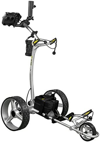 Bat-Caddy 2020 X4R Lithium Remote Control Golf Push Cart with Deluxe Accessory Kit Mountain Slayer Anti Tip Bar – Silver – from in The Hole Golf