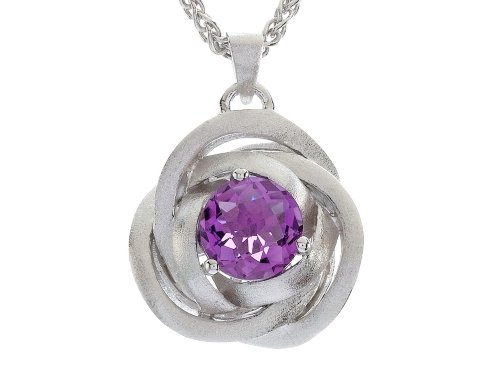 [Balissima By Effy Collection Sterling Silver Amethyst Pendant Necklace] (Sterling Silver Designer Slide Pendant)