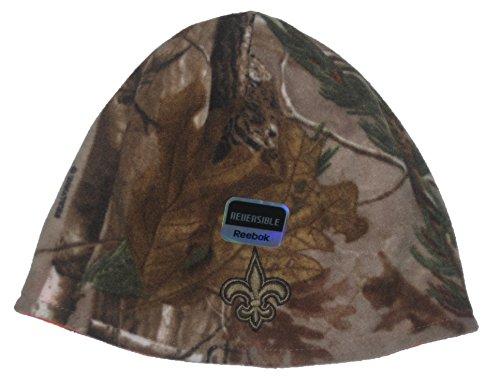 カテゴリー腫瘍市の中心部New Orleans Saints nflリーボックリバーシブルリアルツリーカモ&オレンジニットビーニー帽子