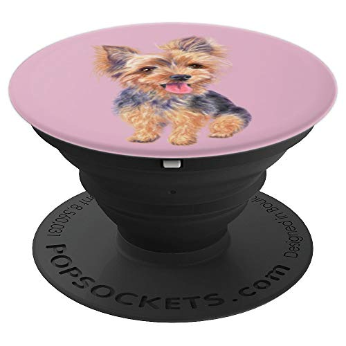 Yorkie phone stand yorkshire terrier dog puppy gifts ideas - PopSockets Grip and Stand for Phones and Tablets ()