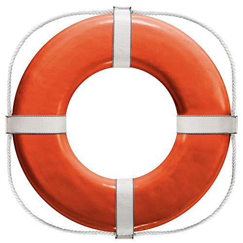 Cal June USCG Approved Ring Buoy (20- Inch Diameter, Orange)