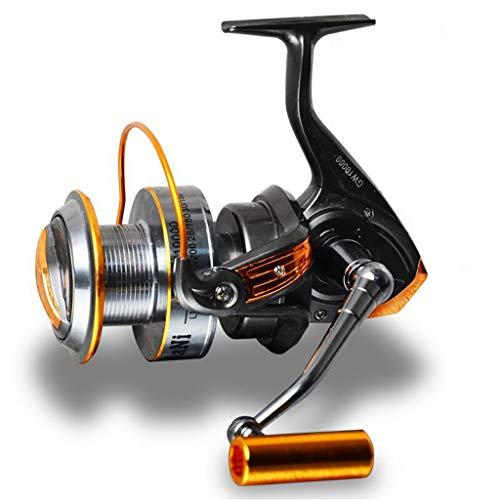 DUYULU Long Throw Wheel 11000 Type 9000 Full Gold Wire Cup Large Fishing Reel Sea Fishing Wheel Sea Bream Spinning Wheel Fisherman GW Far Throwing Round (Color : 10000)