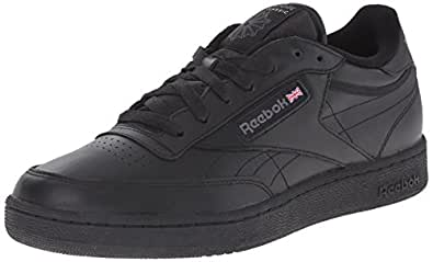 Reebok Men's Club C Sneaker,Black/Charcoal,10.5 M