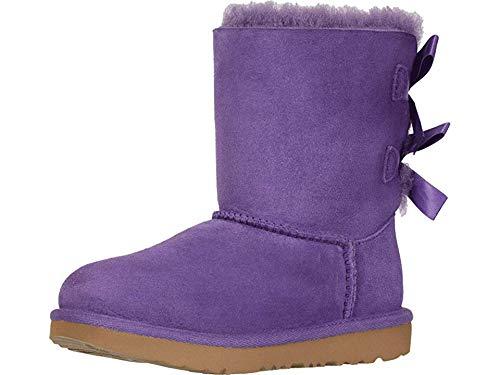 UGG Girls' K Bailey Bow II Fashion Boot, Violet Bloom, 5 M US Big Kid