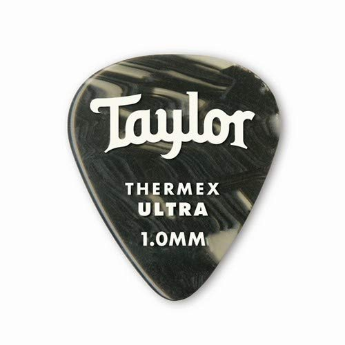 Taylor Premium Darktone 351 Thermex Ultra Guitar Picks 6-pack - Black Onyx 1.00mm