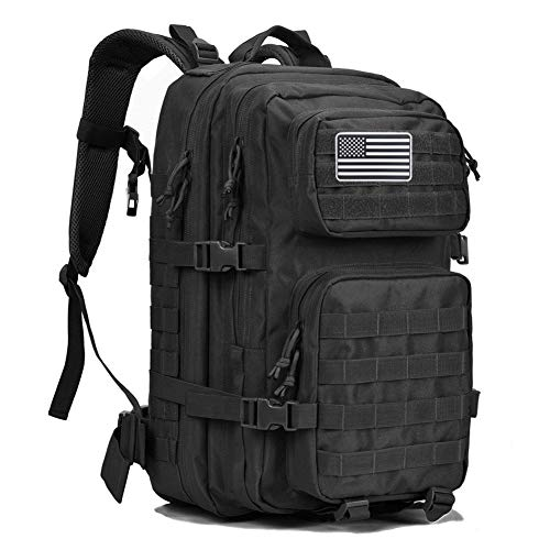 MEWAY Military Tactical Backpack Large Assault Pack 3 Day Army Rucksacks Outdoor Hunting Backpacks 42L (Black) ()