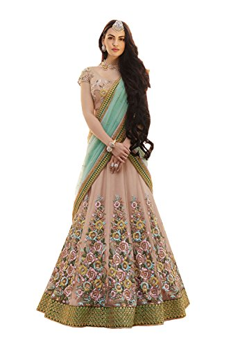 IWS Womens Apricot Striking Lehenga Choli With Embroidery Work 83827